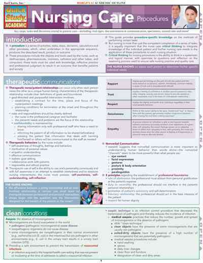 Nursing Care Procedures Laminated Reference Guide By Barcharts, Inc. (EDT)/ Raines, Deborah